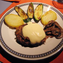 Hamburger Melrose con verdure